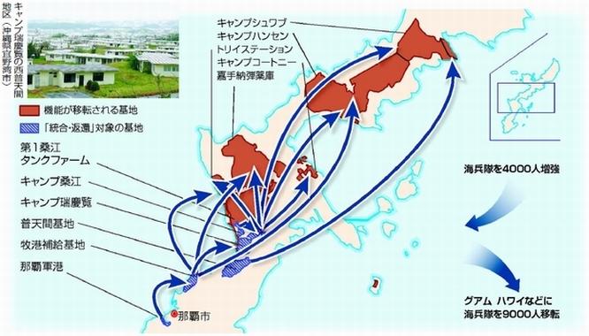 沖縄米軍6基地に関する、日米両...