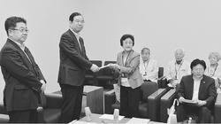 核兵器廃絶と援護の充実を  日本被団協が志位委員長に要請