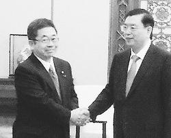 日中友好議連 全人代委員長と会談/小池氏 尖閣・歴史問題で立場表明