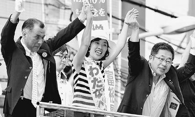改憲勢力の独占阻もう/大阪 小池書記局長・わたなべ候補