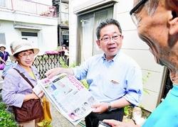 希望届ける「赤旗」ぜひ/東京・品川 小池書記局長先頭に読者ふやす