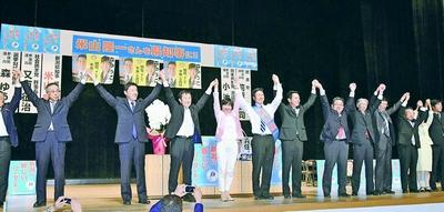新潟知事選 野党と市民が熱い応援/米山さん猛追 大激戦/再稼働ノーで未来開く