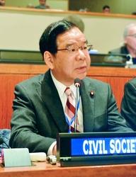 志位委員長が「核兵器禁止条約の国連会議」で演説