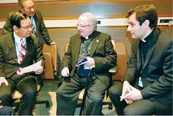 「核兵器禁止条約の国連会議」で共産党志位委員長、ローマ法王庁代表と懇談