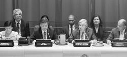 核兵器禁止条約 署名式     国連総長「被爆者が推進力」