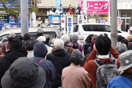 小選挙区は統一候補の勝利を 比例は北海道の宝の議席・はたやま氏を再び/札幌 小池書記局長が訴え