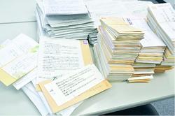 「9条守れ」の思い続々    封書5700通   9条改憲NO3000万署名