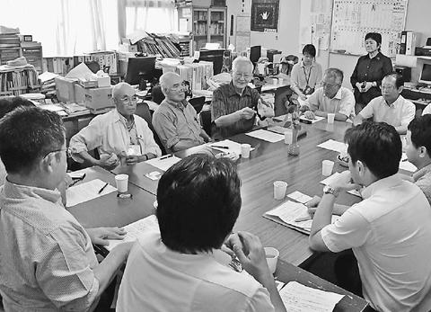 広島県被団協(佐久間理事長)/小池書記局長が懇談