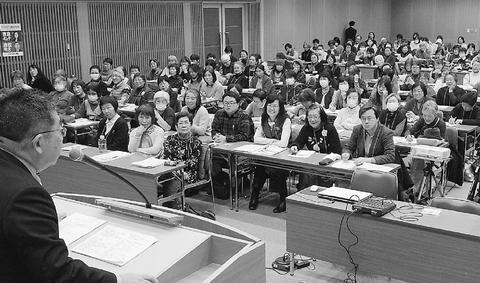 女性輝く共産党勝利で安倍政治にさよならを/東京 女性のつどい 小池書記局長が訴え
