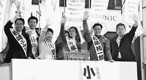 共産党勝利でくらしに希望を/東京5区議選 小池書記局長駆け巡る