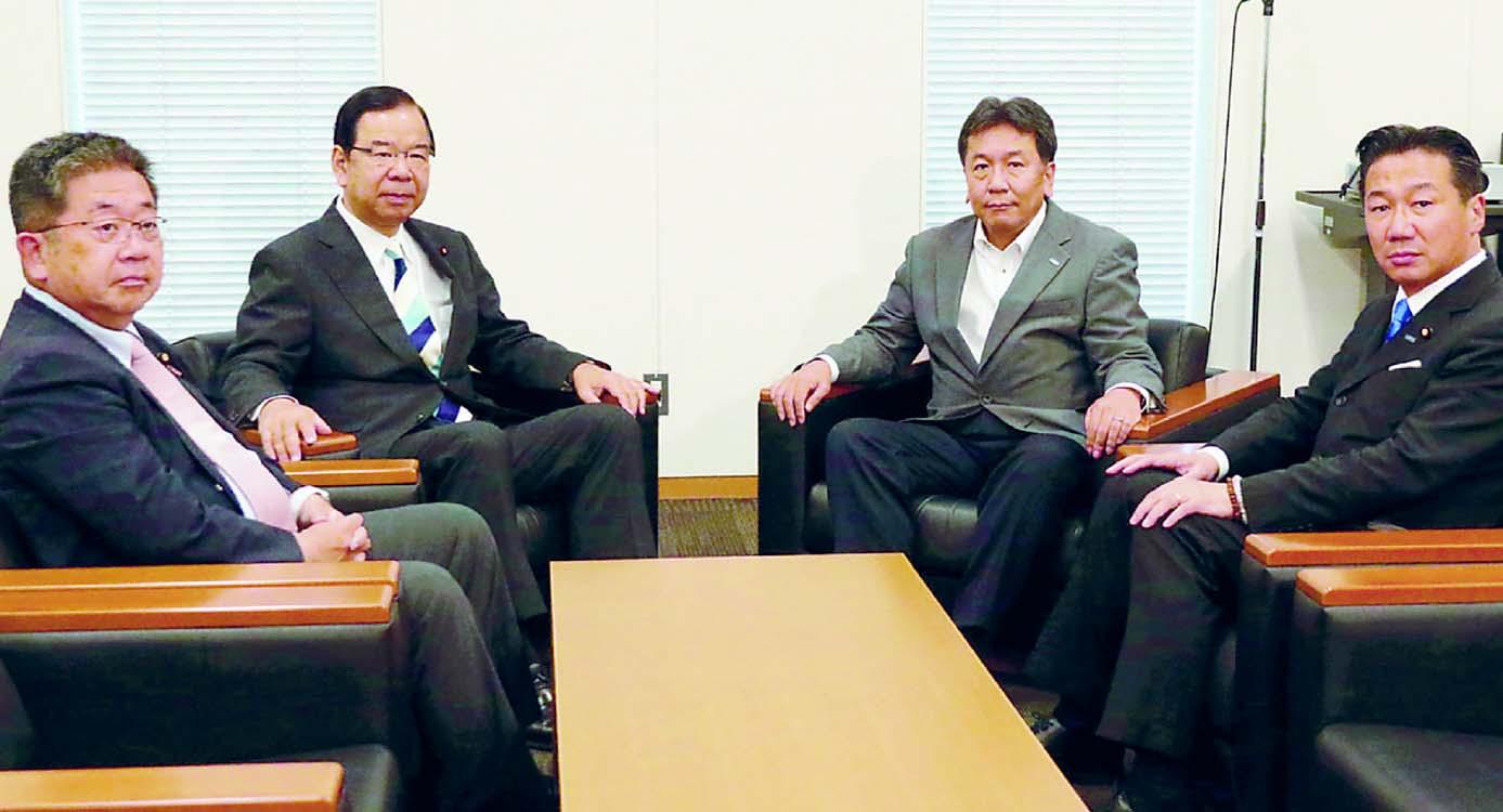 総選挙へ協力強めよう 参院選の野党共闘「大きな成果」 志位委員長と枝野代表が会談