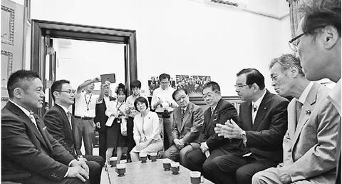 横沢・高良新参院議員が党訪問