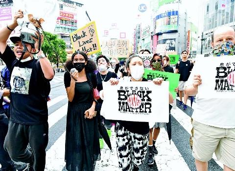 黒人差別、人ごとでない 東京・渋谷 3500人デモ