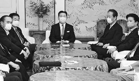 閉会中委員会開催で一致 野党5党派書記局長・幹事長