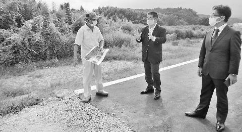 堤防のかさ上げ早く 福島・いわき 小池書記局長が豪雨被害調査