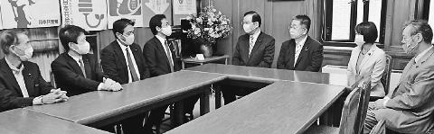 国民民主党 玉木氏ら共産党訪問