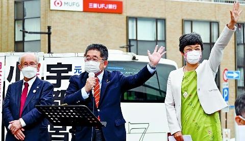 「暮らし・福祉を都政の真ん中に」 和泉氏の勝利で実現を 東京・葛飾 小池書記局長が訴え