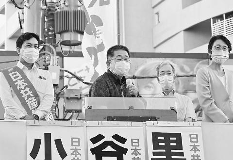 共産党 比例で伸ばす 世田谷区 小池氏 大躍進訴え