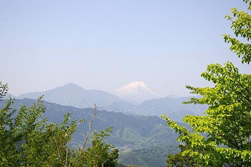「女性のひろば」高尾山頂上から富士山を望む