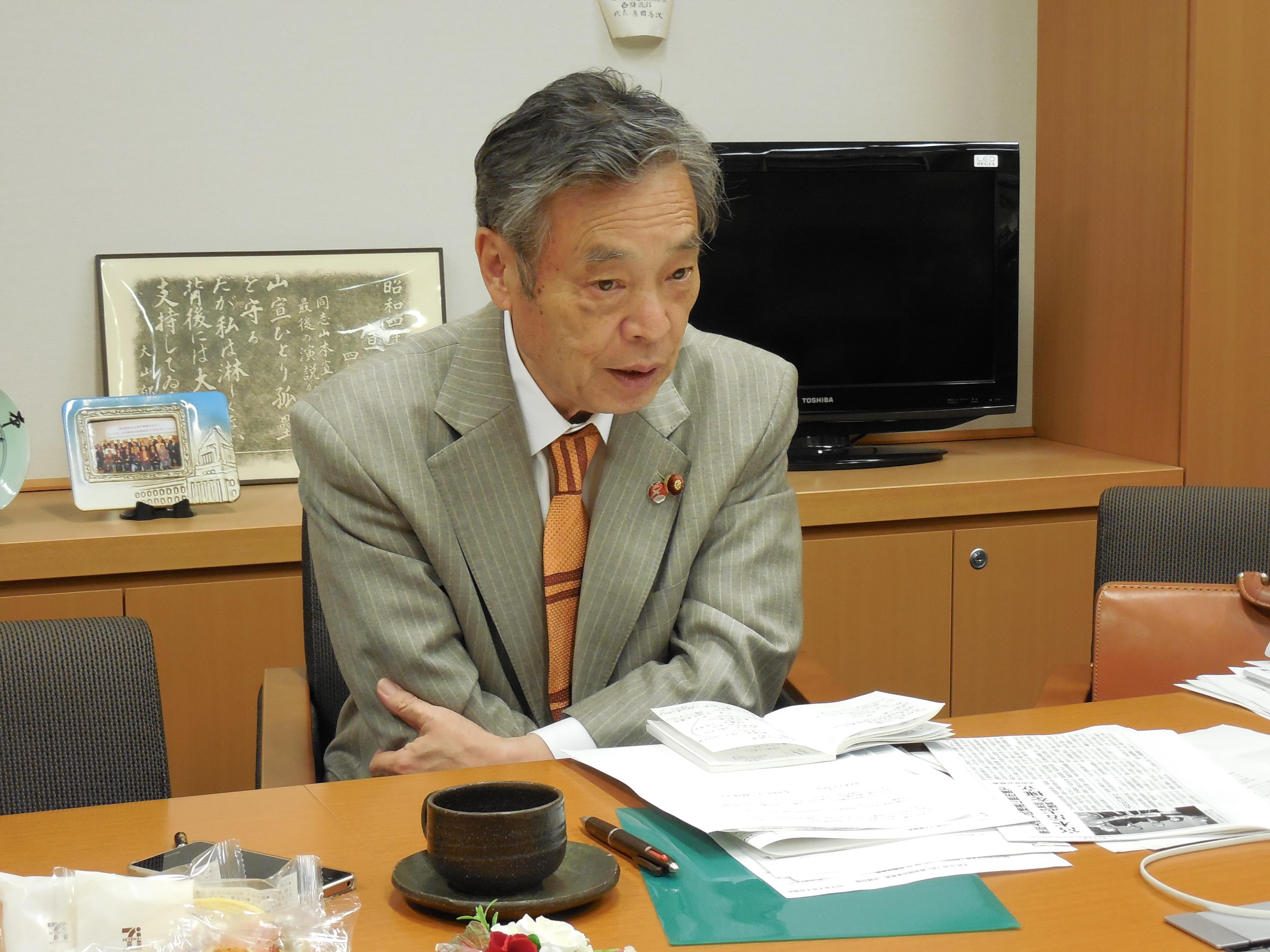 穀田恵二(衆議院議員、党国会対策委員長)