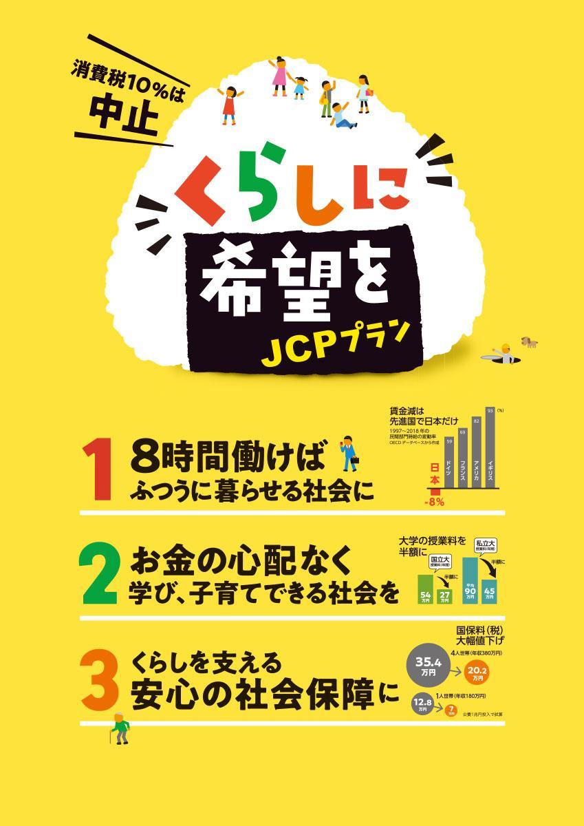 くらしに希望をJCPプラン 消費税10%は中止