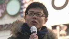 成人の日街頭演説
