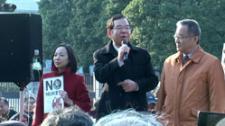 国会前大集会でのスピーチ