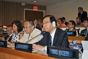 「核兵器禁止条約の国連会議」に出席する志位和夫委員長ら